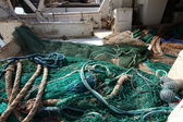 Nets and fishing gear at sea — Stockfoto