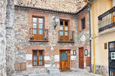 Typical house in the region of Castile in Spain — Stock Photo