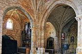 Arcos interiores da igreja colegiada de san cosme em covarub — Foto Stock