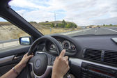 Inside of a car driving on a motorway — Stock Photo