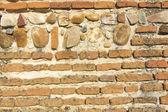 Symmetriska bakgrund eller textur gamla tegel vägg xv-talet — Stockfoto