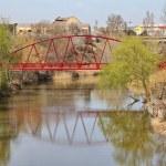 Bridge on the River Duero in Aranda de Duero , Spain — Stock Photo