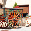 Stock Photo: Old two-wheeled cart pulled by horses
