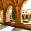 Courtyard of the famous Monasterio de Piedra year 1194 in Nu��va — Stock Photo #16404525