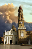 Cathedral of La Seo before the storm in Zaragoza, Spain — Stock Photo