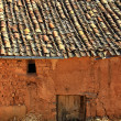 Stock Photo: Gabled houses built of adobe and mud