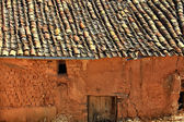 Gabled houses built of adobe and mud — Stock Photo