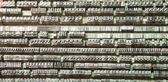 Financer ou texture de vieilles lettres d'une ancienne imprimerie — Photo