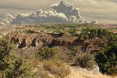"""Gorge famous """"Rio Piedra"""" (river stone) as it passes through the — Stock Photo"""