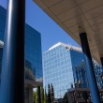 Постер, плакат: MADRID SPAIN OCT 15: Modern building with glass architecture on