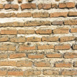 Symmetric background or texture old brick wall XV century — Stock Photo