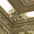 Stock Photo: Details of interior decoration old former casino