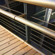 Modern wood and steel railings — Stock Photo #18389027