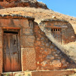 Стоковое фото: Entrances to cellars dug in mountains in province of