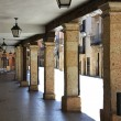 Stock Photo: Typical arcaded streets of city of Burgo de Osmin Spain
