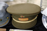 Peaked cap of a sergeant of the Spanish Army — Stock Photo