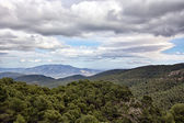 Landscape of the mountains of Sierra Espu��a in Cartagena Spain — Stock Photo