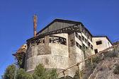 Staré tovární budovy uhlík — Stock fotografie