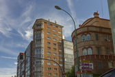 Typical buildings of the decade of the 60 in Burgos, Spain — Stock Photo