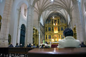 Inside the cathedral of Lugo — Stock Photo