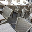 Wicker chairs and tables outside — Stock Photo #19672003