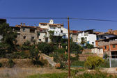 Houses of mud and cement farming village in Ibdes, Spain — Stock Photo