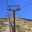 Close to the mast of a chairlift — Stock Photo