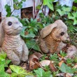 Royalty-Free Stock Photo: Bunnies made of stone garden