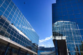 MADRID, SPAIN OCT 15: Modern building with glass architecture on — Stock Photo