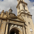 Cathedral Basilica of Nuestra Senora del Pilar, built in the ye — 图库照片