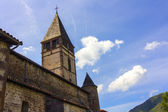 Typical church of the small towns of southern France — Stock Photo