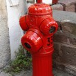 Beautiful old fire hydrant red — Stock Photo
