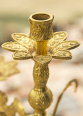 Old chandelier with carved gold — Stock fotografie