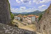 Famosa ciudad turistica de los pirineos de port saint jean pied — Stok fotoğraf