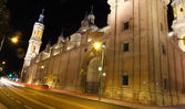 Night view of the city of Zaragoza, Spain — Stock Photo