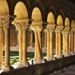 Details of the columns of the famous Monastery of Silos in Spain — Stock Photo