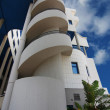 ALICANTE, SPAIN OCT 20: modern architecture in a building with l — Stock Photo