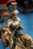 Equestrian statue of welded Asian gold — Stock Photo