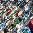 Stock Photo: Many rowing boats and fishing engine nice colors