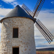 Old Windmill XVI century white stone and wood — Stock Photo #26100745