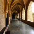 Courtyard of the famous Monasterio de Piedra year 1194 in Nuevalos — Stock Photo