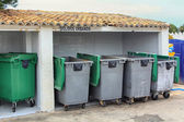 Group of saved waste bins — Stock Photo