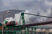 Special crane to transport coal belt — Stock Photo