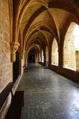 Courtyard of the famous Monasterio de Piedra year 1194 in Nuevalos — Stock Photo