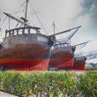 Stock Photo: Old pirate ship caravel