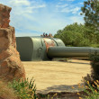Stock Photo: Impressive military cannon for coastal defense