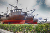 Old pirate ship caravel — Stock Photo