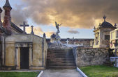 Medival old cemetery in Comillas Spain — Foto Stock