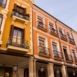 Photo: Streets and buildings typical of city of Palencia, Spain