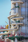 Pipes thousand colors in a modern oil refinery — 图库照片